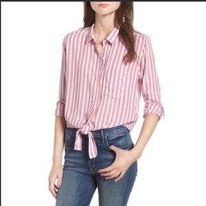 Rails Tie Front Button Down Shirt Top